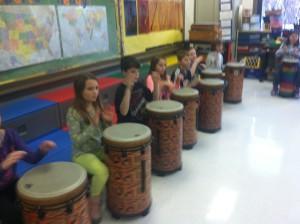 Fifth Grade Drumming