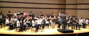 Middle school students perform Movie Music at Ravinia
