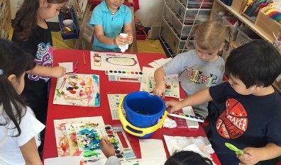Our Youngest Artists at Work